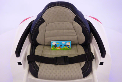 Porsche Boxster Style Ride-On Car by Moderno Kids - Seat with Harness