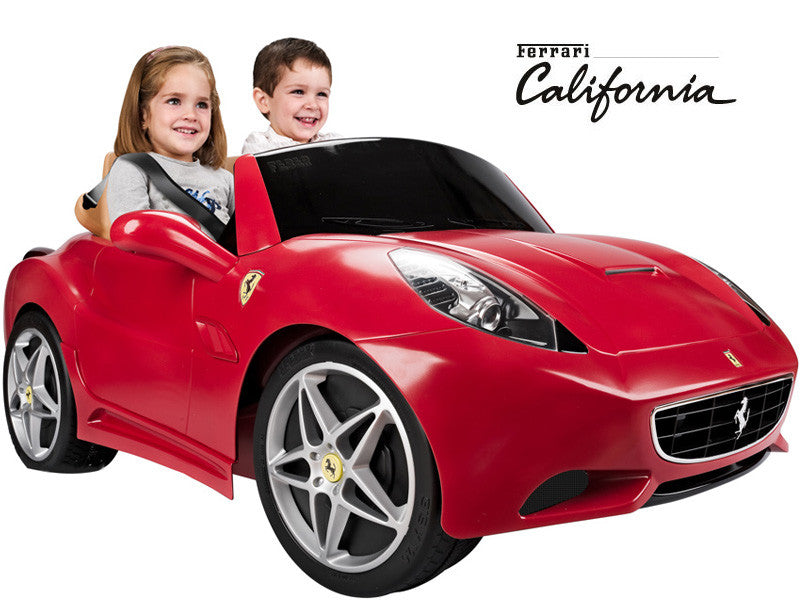 ferrari california two seater kids ride on car 12v battery power wheels with children riding