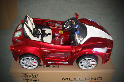 Ferrari Spider Style Ride-On Car by Moderno Kids - Side View