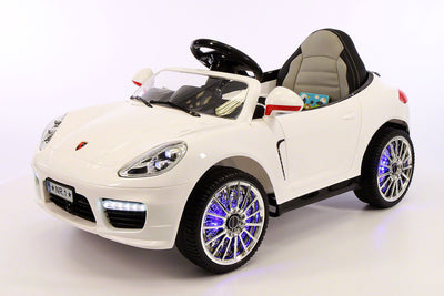 Porsche Boxster Style Ride-On Car by Moderno Kids - Front Side View
