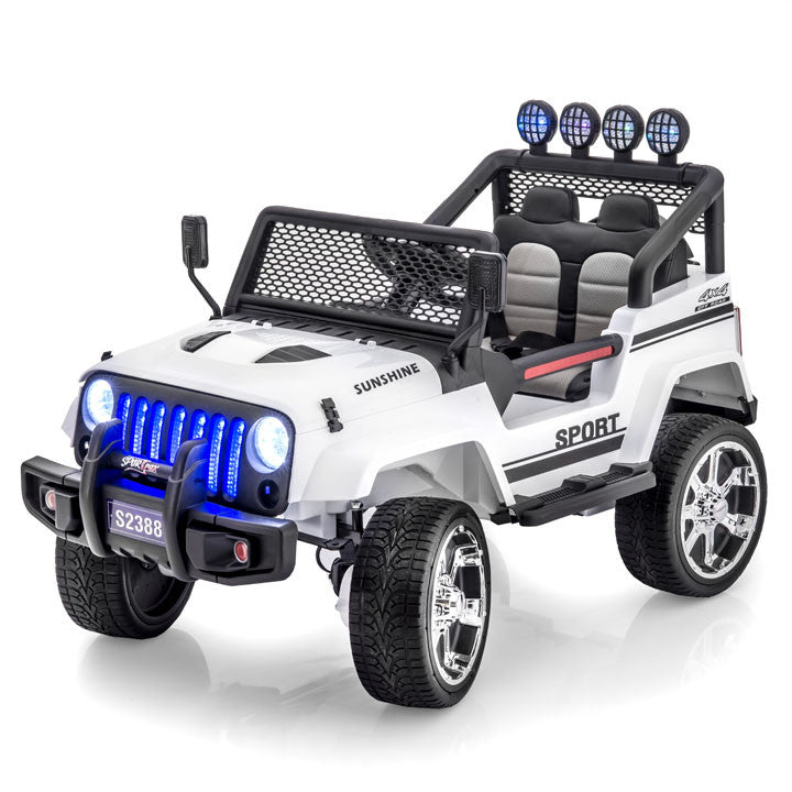 jeep wrangler style ride on car by sportrax
