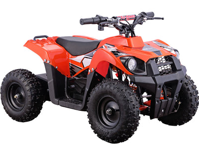 MotoTec 36v 500w ATV Monster v6 Orange- Front Sideview