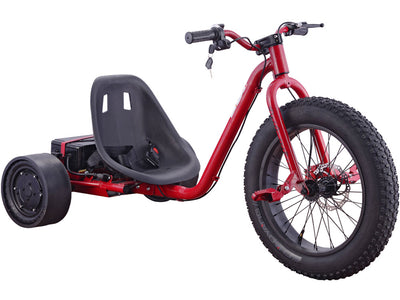 MotoTec Drifter 36v 900w Electric Trike Red- Front Sideview