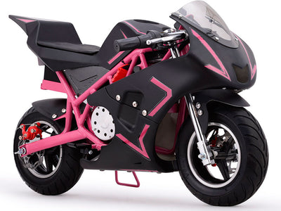 Cali 36v Electric Pocket Bike By MotoTec | Pink FRONT VIEW