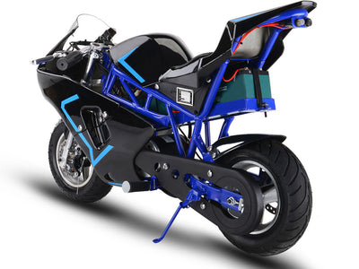 36v 500w Electric Pocket Bike GP By MotoTec -   Rear  View