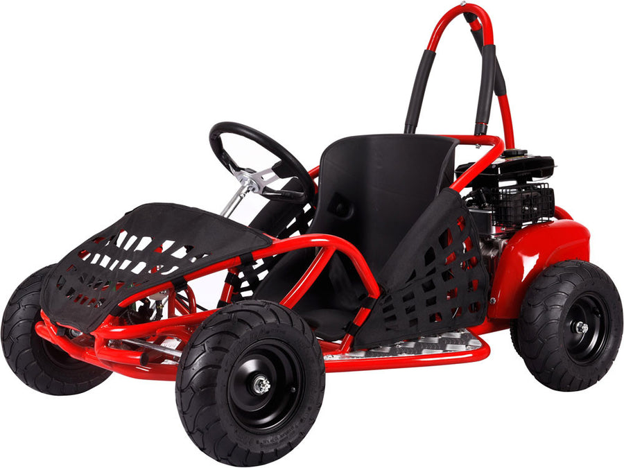 off road go kart 79cc by mototec red front view