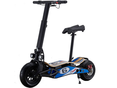 MotoTec MiniMad 800w 36v Lithium Electric Scooter- Front Sideview