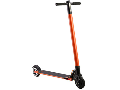 MotoTec Rover 250w Lithium Electric Scooter Orange- Front Sideview
