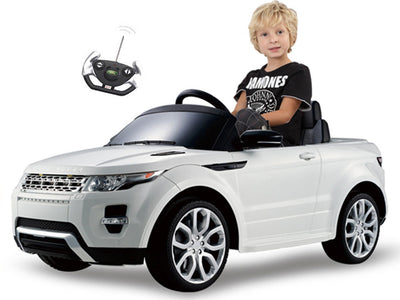 Land Rover Evoque Ride-On Car by Rastar - View with Driver