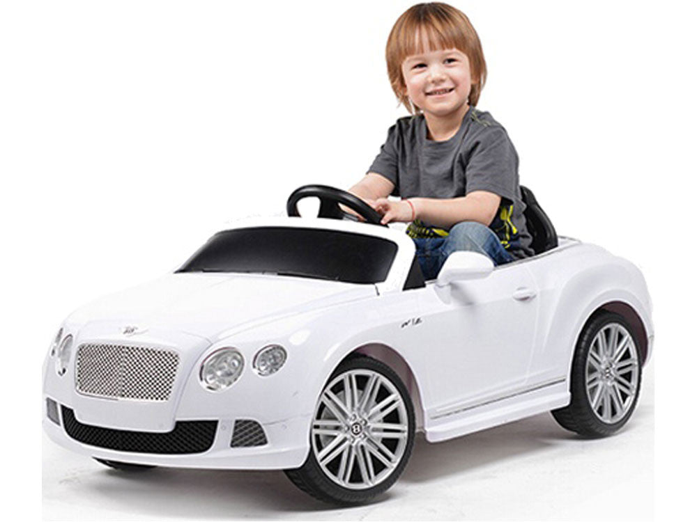 bentley gtc ride on car by rastar front view with driver