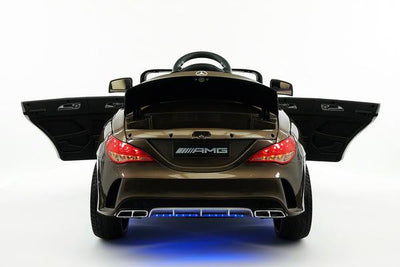 Mercedes CLA45 AMG Ride-On Car by Moderno Kids - Rear View with Hatch Open