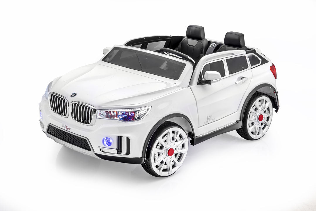 bmw x7 style ride on car by sportrax front side view