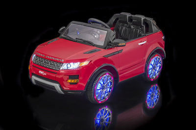 Luxurious Range Rover Ride-On Car by SPORTrax - View with Lights On