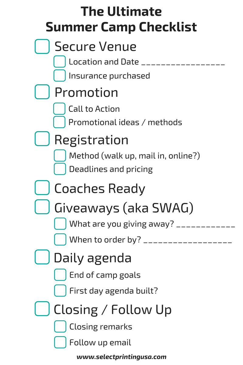 The Ultimate Summer Camp Checklist