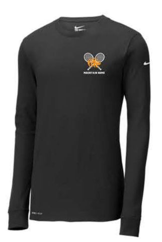 Nike Dri-FIT Cotton/Poly Long Sleeve Tee - Black