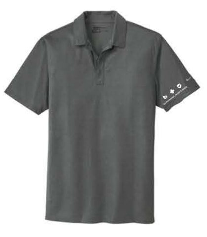 Nike Dri-FIT Crosshatch Polo - Anthracite