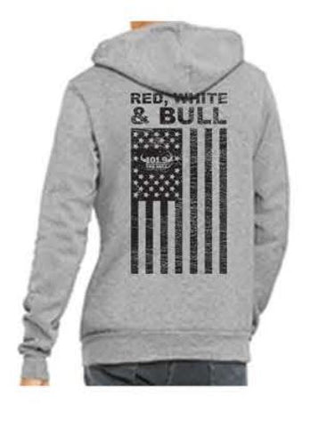 Bull Patriot Hoodie - Athletic Heather (BC)