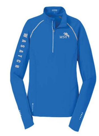 OGIO® ENDURANCE Ladies Nexus 1/4-Zip Pullover - Electric Blue