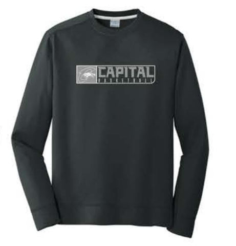 Port & Company® Performance Fleece Crewneck Sweatshirt - Black