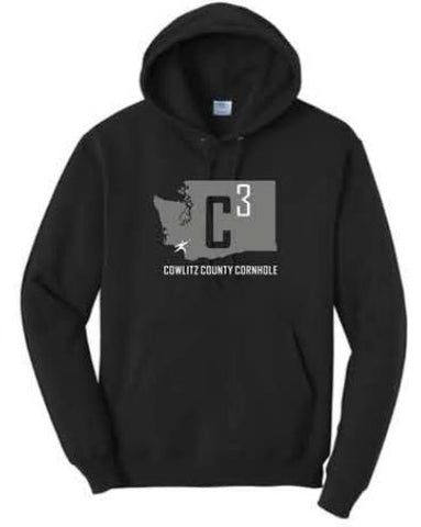 Port & Company® Core Fleece Pullover Hooded Sweatshirt - Black (W3)