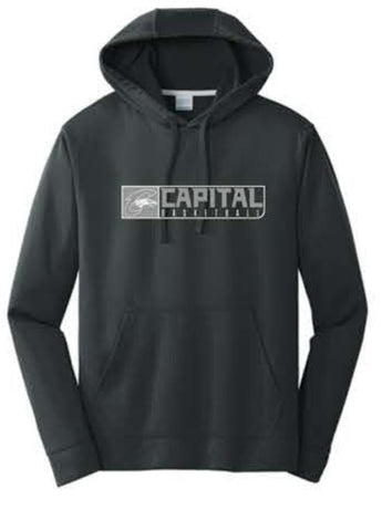 Port & Company® Performance Fleece Pullover Hooded Sweatshirt - Black