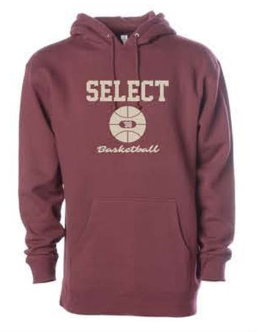 HEAVYWEIGHT HOODED PULLOVER SWEATSHIRT - Currant