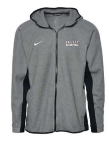 Nike Team Dry Showtime Full-Zip Hoodie - Black Heather