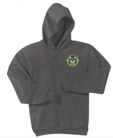 Bayside Adult 9.5 oz., 80/20 Pullover Hooded Sweatshirt - Charcoal