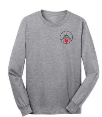 Port & Company® - Long Sleeve Core Cotton Tee - Athletic Heather
