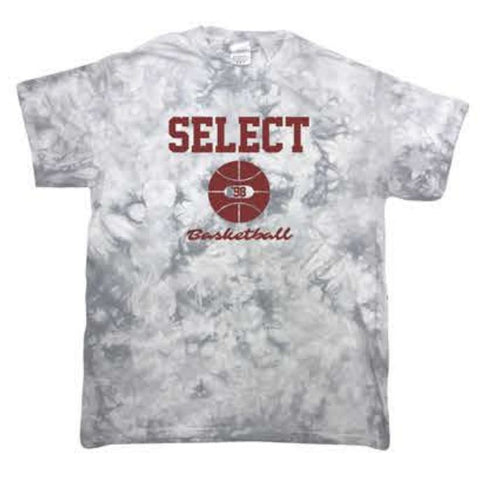 Tie-Dye Crystal Wash T-Shirt - Silver