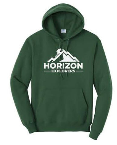 Port & Company® - Core Fleece Pullover Hooded Sweatshirt - Dark Green
