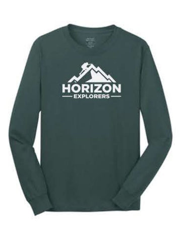 Port & Company® - Long Sleeve Core Cotton Tee - Dark Green