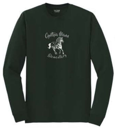 Gildan® - DryBlend® 50 Cotton/50 Poly Long Sleeve T-Shirt - Forest Green