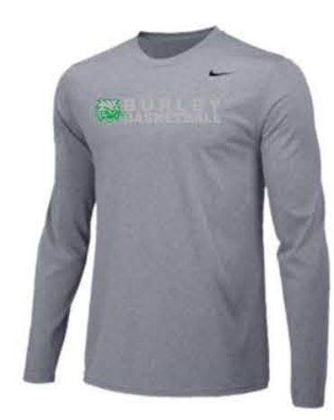 Nike Team Legend Long Sleeve Poly Top - Carbon Heather