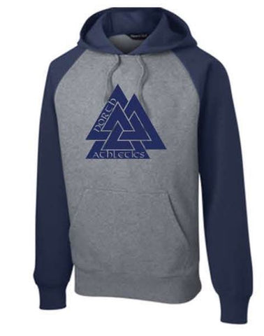 Sport-Tek® Raglan Colorblock Pullover Hooded Sweatshirt