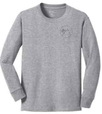 Adult- Long Sleeve Cotton Tee - Athletic Heather