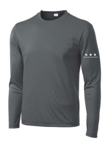 Sport-Tek® Long Sleeve PosiCharge® Competitor™ Tee - Iron Grey ** EMT PERSONNEL ONLY **