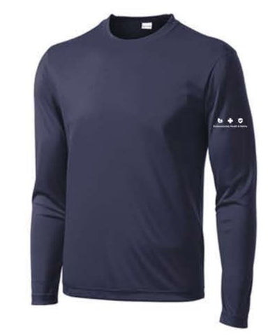 Sport-Tek® Long Sleeve PosiCharge® Competitor™ Tee - Navy ** EMT PERSONNEL ONLY **