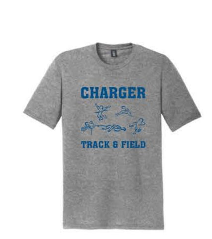 District ® Perfect Tri ® Tee - Grey Frost (Charger logo)