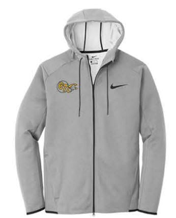 Nike Therma-FIT Textured Fleece Full-Zip Hoodie - Grey