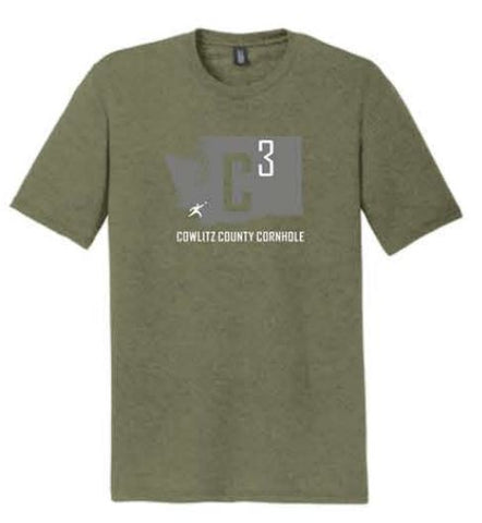 District ® Perfect Tri ® Tee - Military Green (W3)