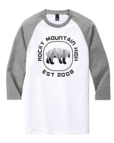 District ® Perfect Tri ® 3/4-Sleeve Raglan - Grey/White