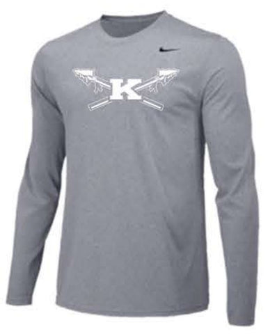 Nike Team Legend Long Sleeve Poly Top - Grey