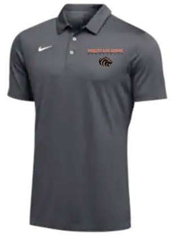 Nike Team S/S Polo - Men's - Anthracite