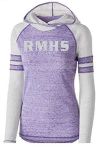 Holloway Ladies' Advocate Spirit-Wear Hoodie - Purple/Silver