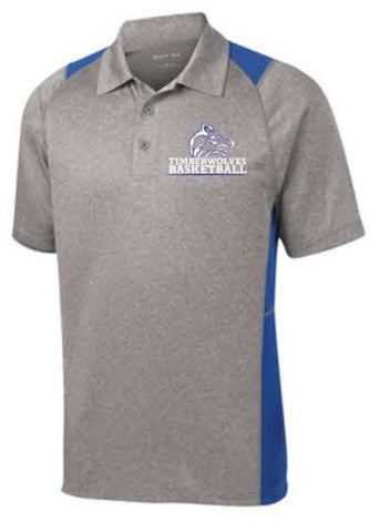 Sport-Tek® Heather Colorblock Contender™ Polo