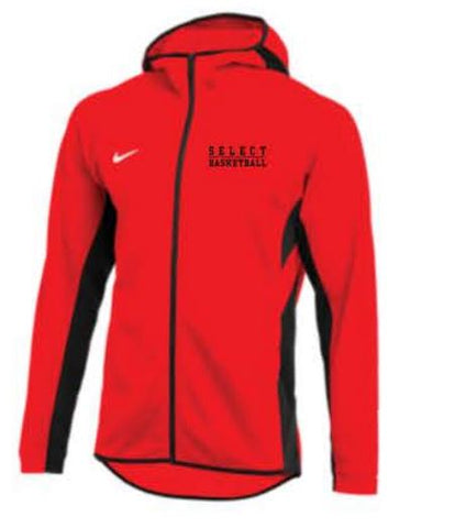 Nike Team Dry Showtime Full-Zip Hoodie - Red
