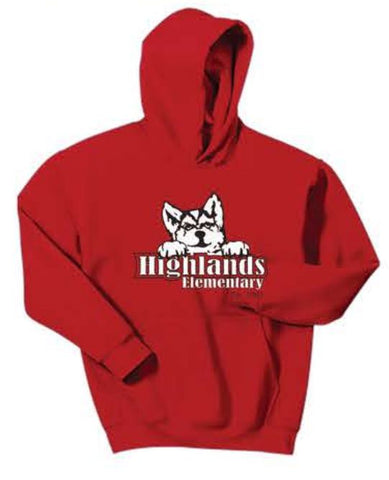 Gildan® - Youth Heavy Blend™ Hooded Sweatshirt - Red