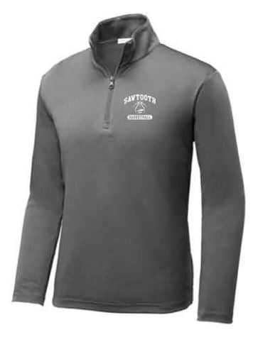 Sport-Tek ®Youth PosiCharge ®Competitor ™1/4-Zip Pullover - Grey Concrete
