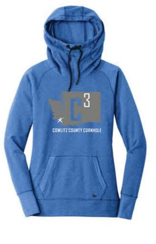 New Era® Ladies Tri-Blend Fleece Pullover Hoodie - Royal Heather (W3)